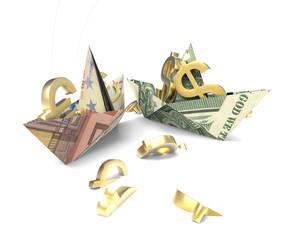 Paper money boat