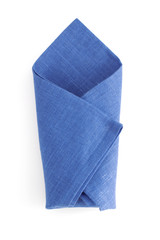 folded napkin  on white