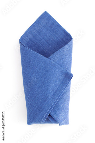 folded napkin  on white