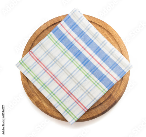 napkin at cutting board