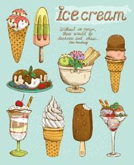 Tasty ice cream set