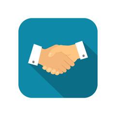 Businessman handshake icon