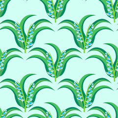 may-lily seamless pattern