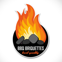 Charcoal briquettes icon.