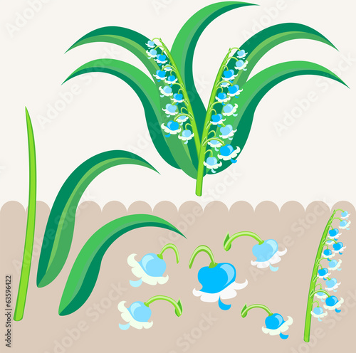 lily of the valley scrapbooking elements