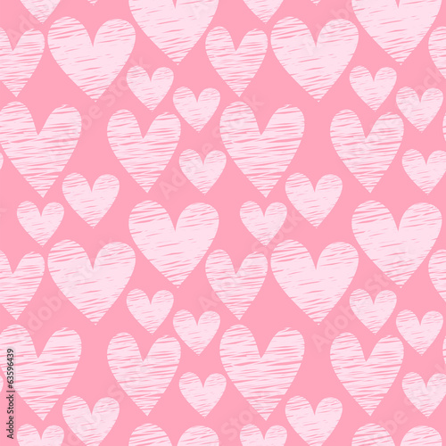 pink heart seamless pattern