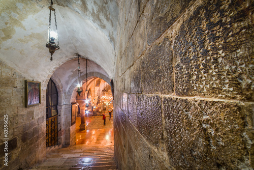 Fotobehang Midden Oosten Church of the Holy Sepulchre - Crusader graffiti