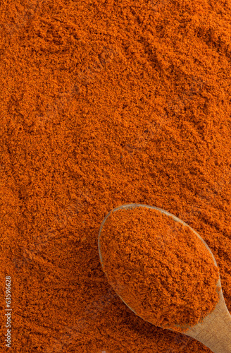 paprika powder and spoon