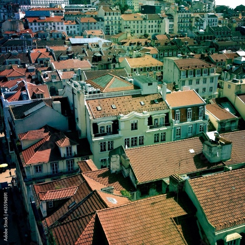 roofs in Lisbon, Porugal
