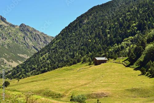 Andorra: casita y prado