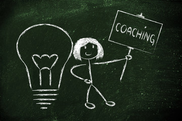 girl with ideas and knowledge: coach