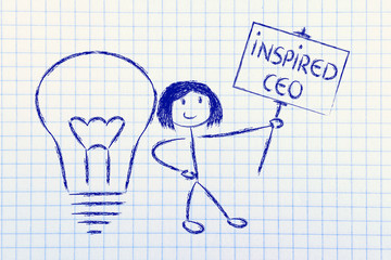 girl with ideas and knowledge: inspired ceo