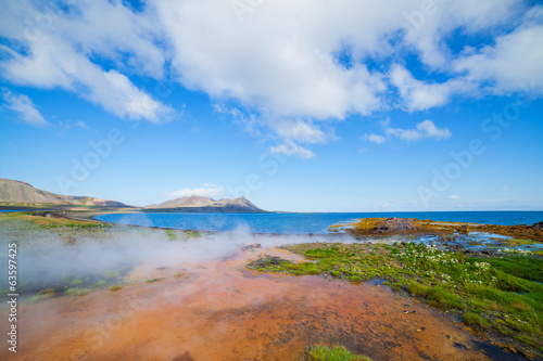 Hot geothermal spring.