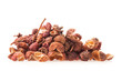 Sichuan pepper isolated on white background, closeup, macro