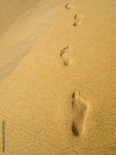 Footprint at the beach
