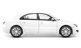Prezentacja białego sedana - 63599499