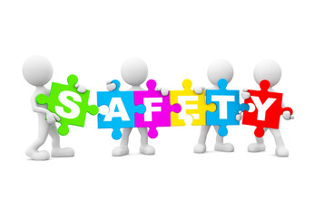 Group of People Holding Safety