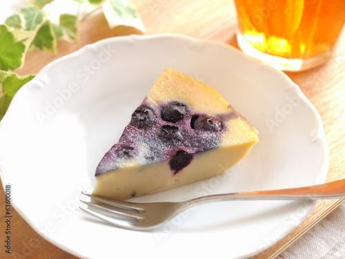 ブルーベリーのケーキ