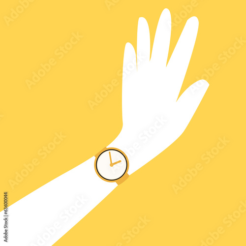 time design over yellow background