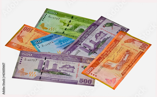 Sri Lankan Currency Rupee Notes