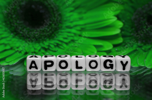 Apology with green flowers