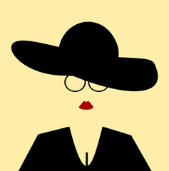 woman with floppy hat
