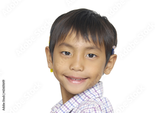 cute smile little boy in studio