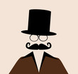 man with glasses and top hat