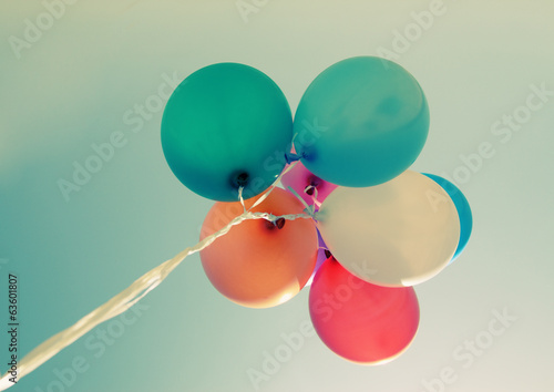 close up of colorful baloons - 63601807
