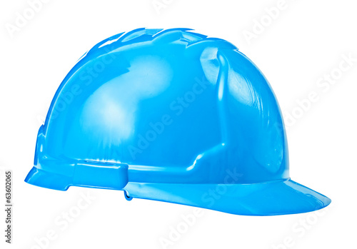 single blue helmet isolated on white background