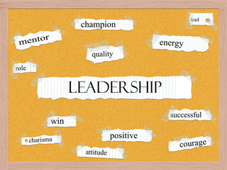 Leadership Corkboard Word Concept