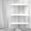 Layers Blank white wooden bookshelf.   EPS10