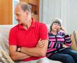Senior couple after quarrel