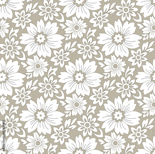 Seamless rich floral background