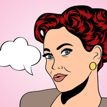 pop art rétro femme dans le style de la bande dessinée