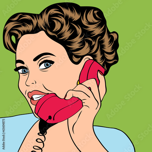 kobieta-rozmowy-przez-telefon-ilustracja-pop-art