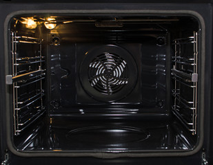 Empty modern oven with convection.