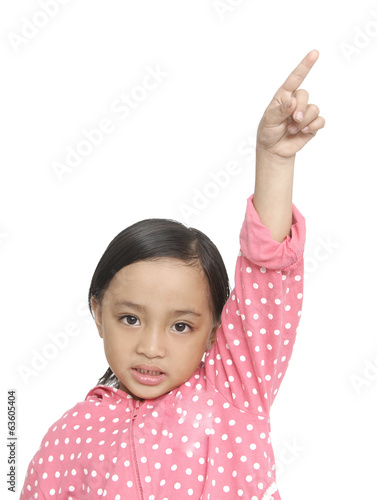 picture of little girl pointing her finger