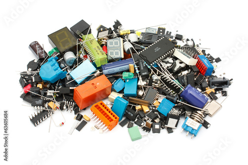 Electronic Components mix, for SMD and THT assembly