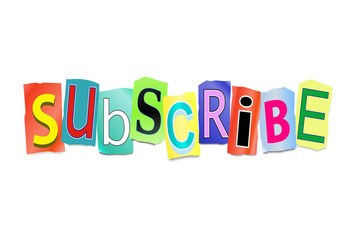 Subscribe concept.