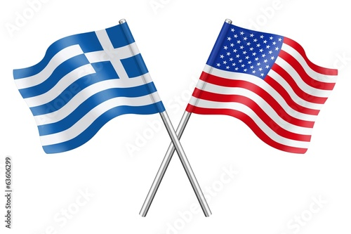 Flags: Greece and the United States