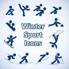 Winter sports icons set
