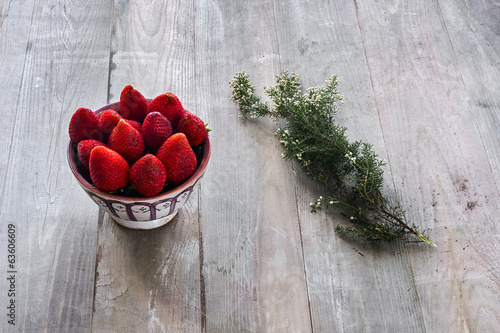 strawberries with thyme