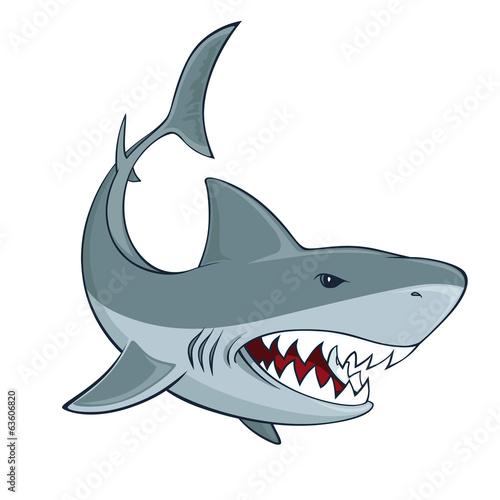 Leinwanddruck Bild Shark sign