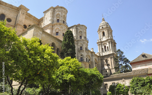 canvas print picture Malaga, Altstadt, Kathedrale, Sommer, Spanien