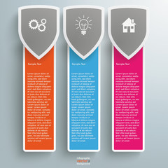 Three Colored Protection Shield Oblong Banners