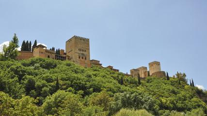 Granada, Altstadt, Stadtburg, Alhambra, Frühling, Spanien