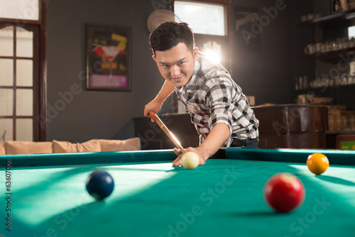 Asian pool player