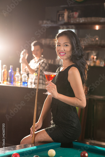Vietnamese lady in the bar