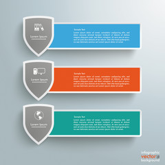 3 Colored Banners Protection Shields